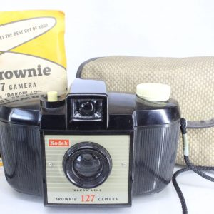 Kodak Brownie 127 Bakelite Camera with Original Case and Instructions
