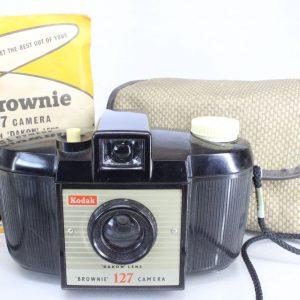 Kodak Brownie 127 Bakelite Camera with Original Case and Instructions