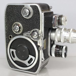 Paillard Bolex B8L Vintage 8mm Cine Movie Film Camera With Twin Lens