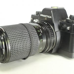 Praktica BX20 with Pentacon Prakticar 80-200mm Zoom MC Lens