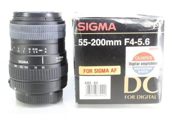 Sigma 55-200mm AF F4-5.6 DC Digital Lens for Sigma AF Mount - Boxed