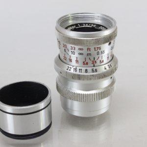 Steinheil Munchen Cassar 36mm lens for Paillard Bolex 8mm Movie Cameras