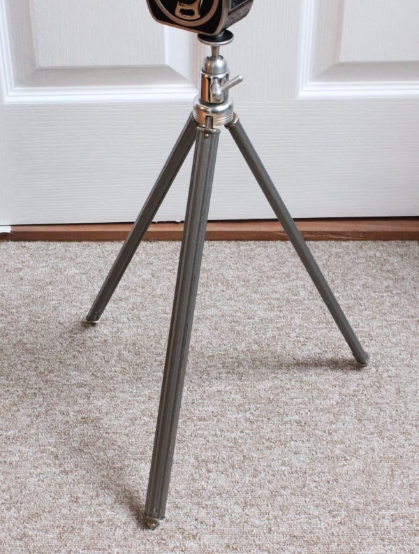 Vintage Steel 3-Section Tripod With Ball & Socket Head