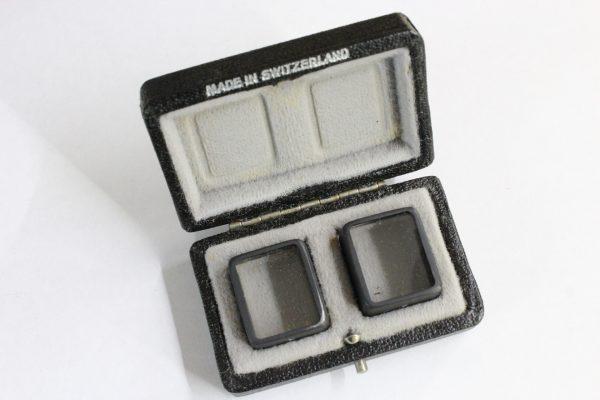 Boxed Set Paillard Bolex Viewfinder Parallax Corrector Prisms 1 & 2