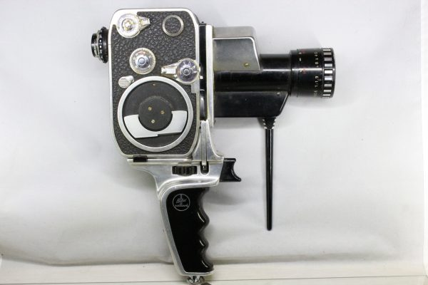Paillard Bolex P1 Zoom Reflex 8mm MovieCine Camera 40mm1.9 Lens + Pistol Grip