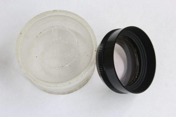 Paillard Bolex Skylight UV Filter & Lens Hood For 8mm Movie Cameras