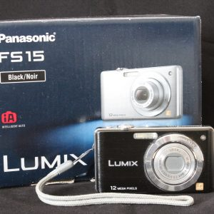 Panasonic Lumix FS15 Digital Camera - Black (12.1MP, 5x Optical Zoom) 2.7-inch LCD