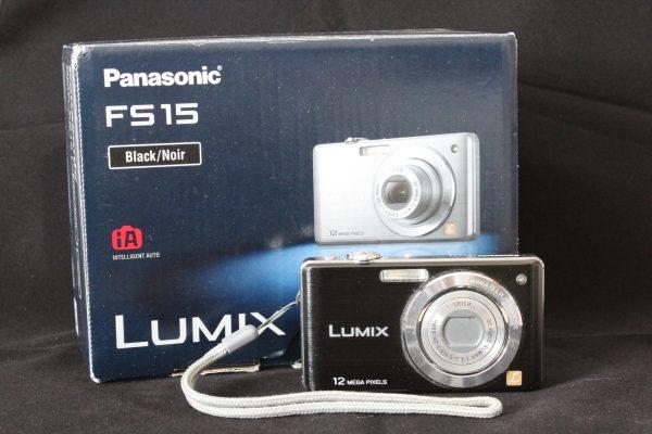 Panasonic Lumix FS15 Digital Camera - Black (12.1MP, 5x Optical Zoom) 2.7-inch LCD