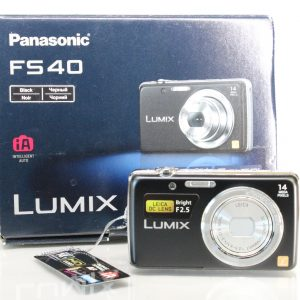 Panasonic Lumix FS40 Digital Camera - Black (14.1MP, 5x Optical Zoom) 2.7-inch LCD