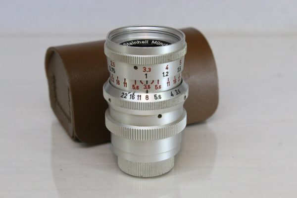 Steinheil Munchen Cassar f35 36mm Lens For Vintage Movie Camera D-mount Lens