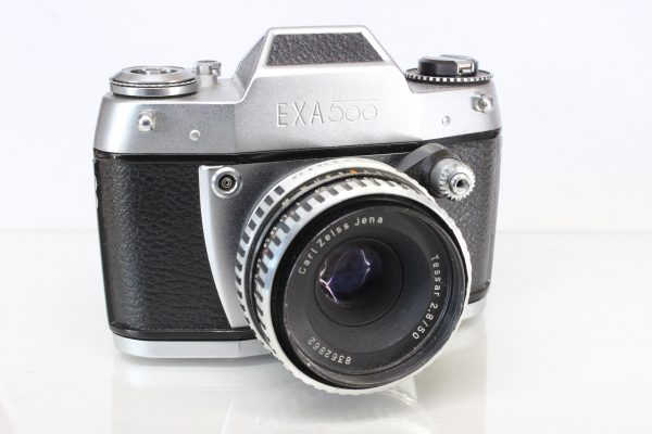 Exa 500 35mm SLR Camera with Carl Zeiss Jena Tessar f2.8 50mm Lens