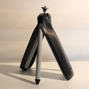 Bilora Biloret 'Perfect' Vintage Camera Tripod - Leather Zip Case