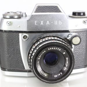 Exa IIb 35mm SLR Camera with Mayer-Optik Domiplan f2.8 50mm Lens