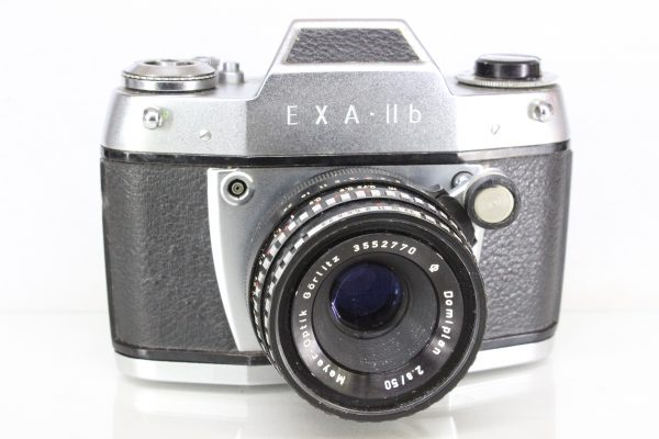Exa IIb 35mm SLR Camera with Mayer-Optik Domiplan f2.8 50mm Lens