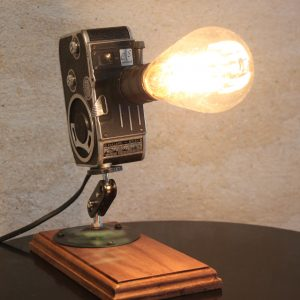Original Vintage Retro Movie Camera Repurposed Upcycled Desk Lamp - Bolex