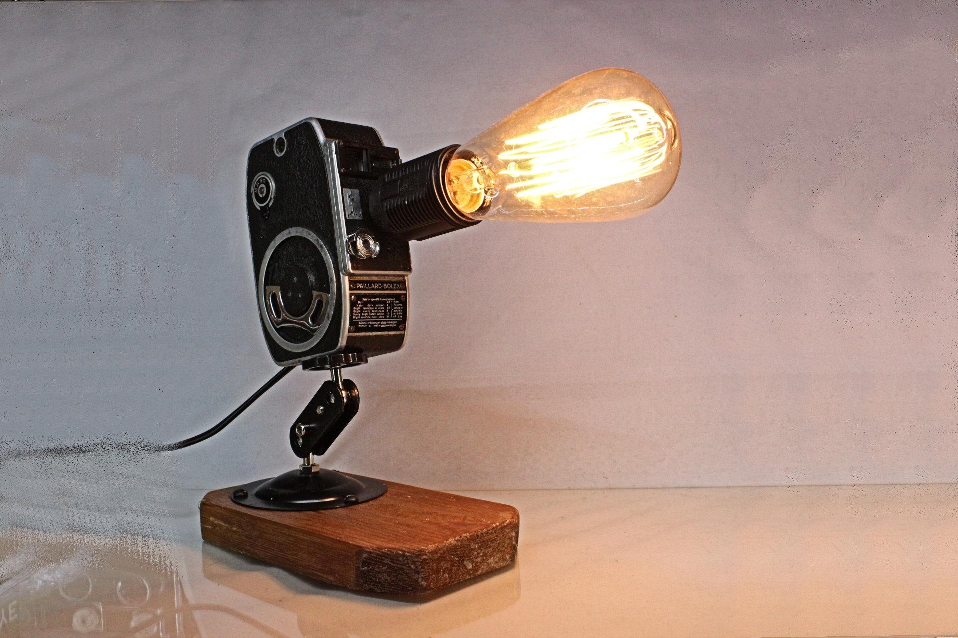 Repurposed Upcycled Original Vintage Movie Camera Desk Lamp ...