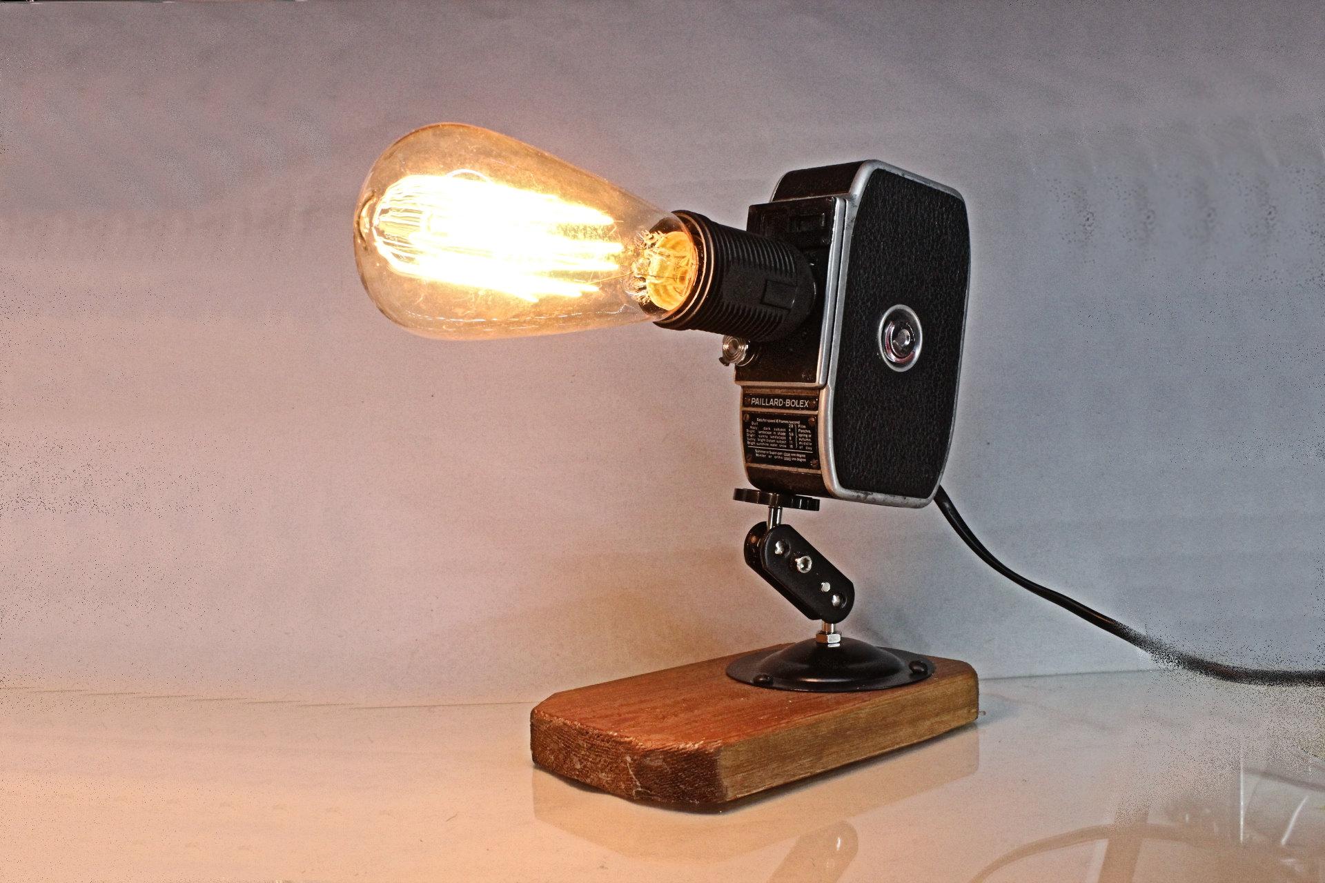 Original Vintage Bolex Movie Camera Repurposed Upcycled Desk Lamp ...