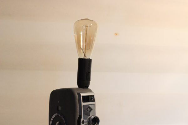 Vintage Agfa Movie Camera Repurposed Upcycled Desk Lamp