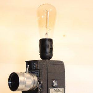 Vintage Holiday Movie Camera Repurposed Upcycled Desk Lamp
