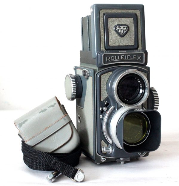 Rolleiflex Baby Grey 4×4 Twin Lens Reflex Camera (TLR) Model K5 1957